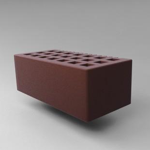 Кирпич пустотелый с фаской 1,4 нф - коричневый, гладкий