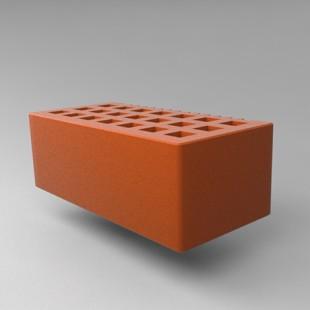 Кирпич пустотелый с фаской 1,4 нф - красный гладкий